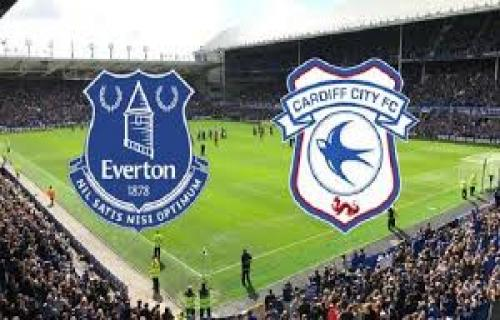 Everton Pesta Gol,Pada Pertandingan Everton vs Cardiff City