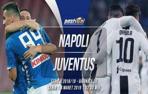 Prediksi Pertandingan Napoli vs Juventus  Senin 4 Maret 2019