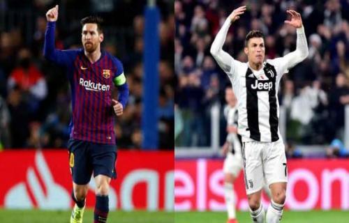 Messi dan Ronaldo Saling Dorong Satu Sama Lain