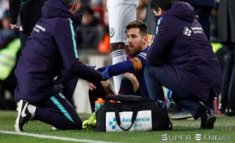 Lionel Messi Mengalami Cedera Betis